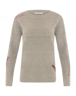 Mohair knit w. embroidery