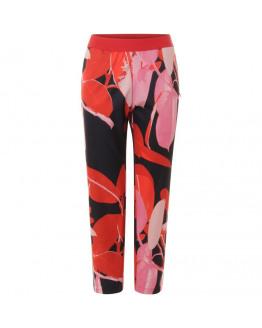 Trousers w. Branch print & stripe