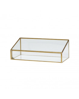 Glass Box brass/glass 34x16x12cm