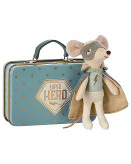 Mouse Guardian Hero in Suitcase
