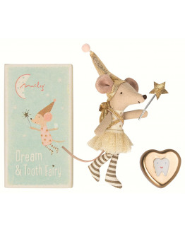 Tooth fairy Big sister mouse w. metal box