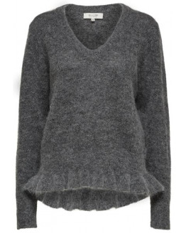 SFFINTA LS V-NECK KNIT