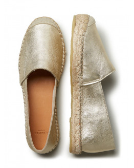SFMarley Gold Leather Espadrilles