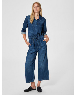 SLFVictoria 7/8 Crop Denim Jumpsuit