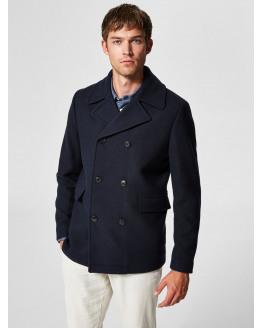 SLHNew Mercer Wool Peacoat
