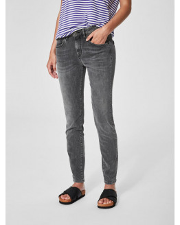 SFLida MR Cropped Jeans Grey
