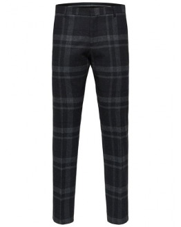 SLHSLIM-MYLOJOLE BLACK CHECK TROUSERS