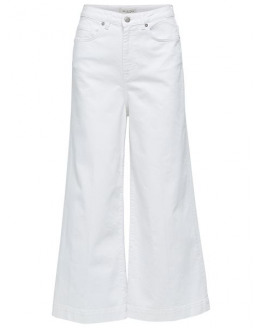 SLFCARRY HW CROPPED WIDE WHITE JEANS W