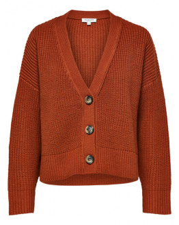 SLFCaroline Ls Knit Cropped Cardigan W