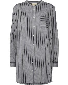 Lenora Woven Stripes Shirtdress