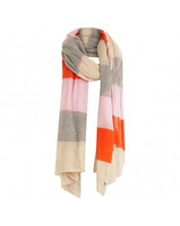 Scarf in mohair w. spripes