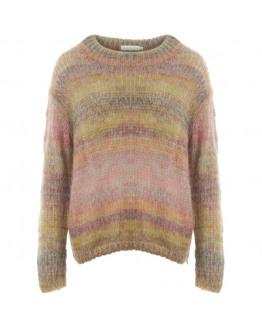 Knit in multi color yarn