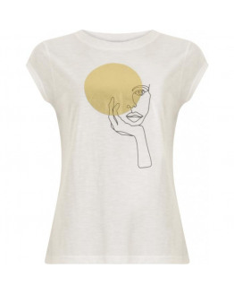 T-shirt with lady circle