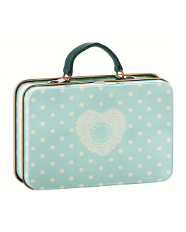 Metal Suitcase Mint Off-White dots