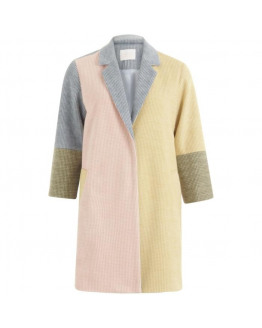 Jacket in mixed colors w. 3/4 sleeves
