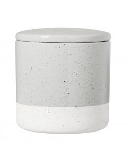 Zoe Jar w/lid Grey Stoneware 12,5x12,5cm
