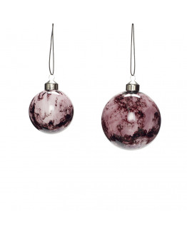 Christmas Ball purple set of 2