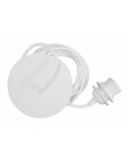 Rosette Metal Cord Set White