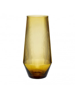 Vase Glass 9x26cm amber