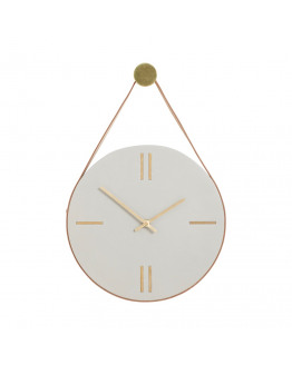 Clock w/leather strap