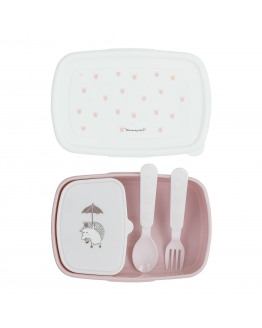 Princess Lunch Box Plastic w/Cutlery Rose