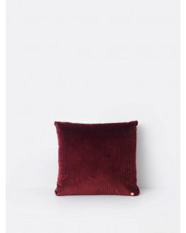 Corduroy Cushion Burgundy 45x45cm