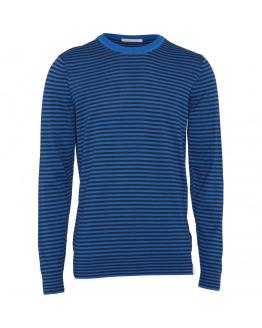 O-neck fine knit with contrast rib - GOTS/Vegan