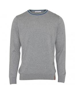 O-neck knit light - contrast rib - GOTS/Vegan