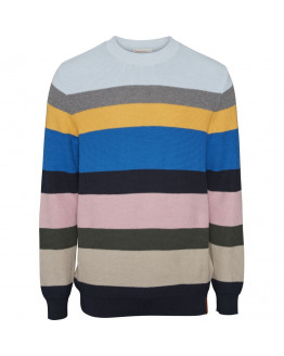 Multi colored striped knit - GOTS