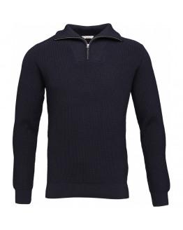 Rib knit w/zipper neck - GOTS