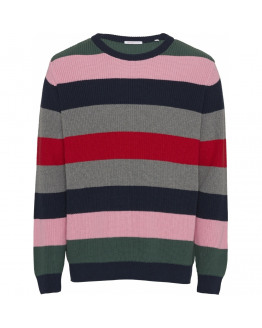 VALLEY o-neck striped knit - Vegan