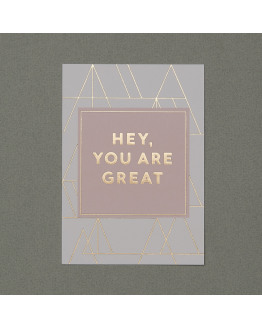 Hey you are great gold postcard 81619
