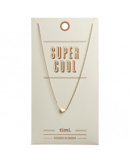 Small sliding heart necklace 02-Gold plated