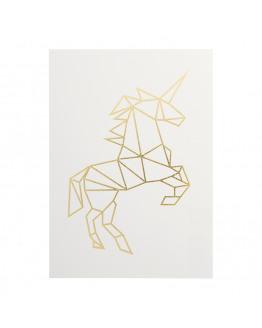 Unicorn rose postcard