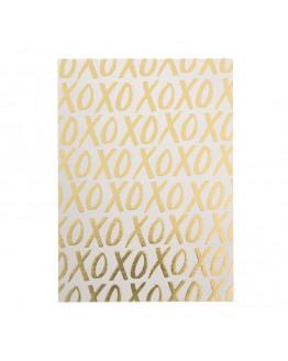XOXO GOLD POSTCARD