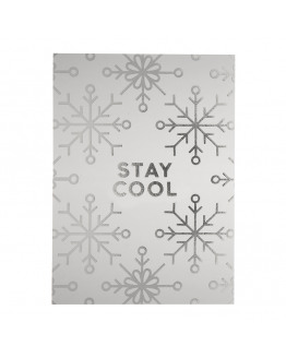 STAY COOL SILVER FOIL POSTCARD