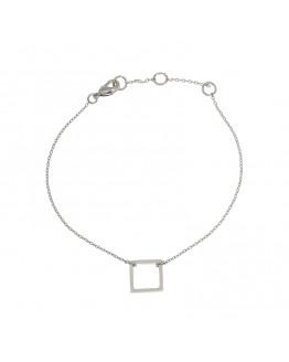 Square bracelet - Silver Finishing