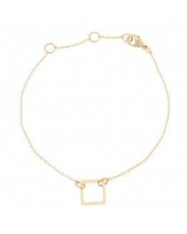 Sqúare Bracelet 02-Gold plated