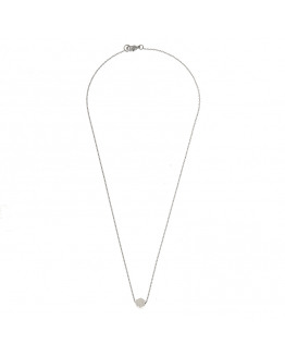 Hexagon necklace 01-Silver Finishing