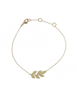 Laurel leaf Bracelet Gold Plated