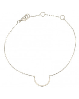 Half circle bracelet 01-Silver Finishing