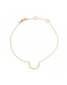 Half circle bracelet  -Gold plated