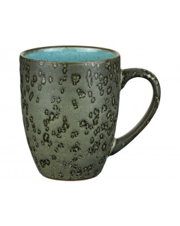 Mug 30cl w.handle green/light blue