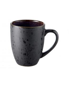 Mug 30cl w. handle black/dark blue