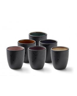 Espresso cups black ass. 6 pcs.
