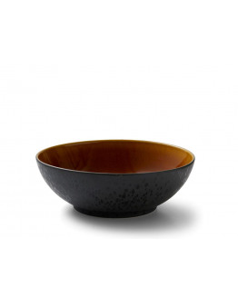Salad bowl 30cm black/amber