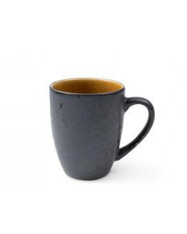 Mug 30cl w. handle black/amber
