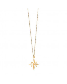 Nebula Star Necklace 02-Gold plated