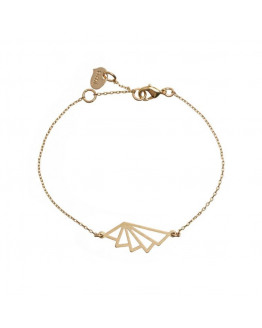 Geometric Fan Bracelet 02-Gold plated