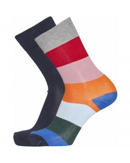 TIMBER 2 pack striped socks- GOTS/Vegan